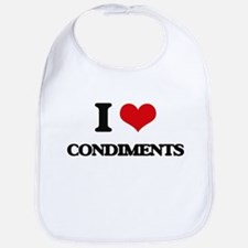 I Love Condiments ( Food ) Bib