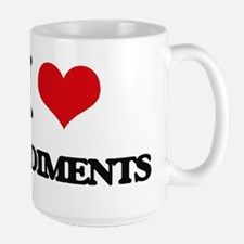 I Love Condiments ( Food ) Mugs