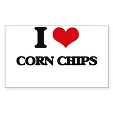 I Love Corn Chips ( Food ) Decal