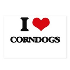 I Love Corndogs ( Food ) Postcards (Package of 8)