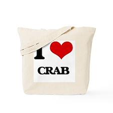 I Love Crab ( Food ) Tote Bag