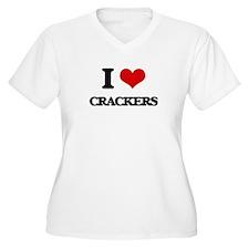I Love Crackers ( Food ) Plus Size T-Shirt