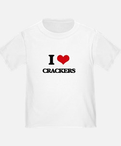 I Love Crackers ( Food ) T-Shirt