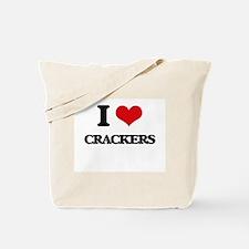 I Love Crackers ( Food ) Tote Bag