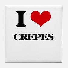 I Love Crepes ( Food ) Tile Coaster