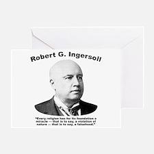 Ingersoll: Falsehood Greeting Card