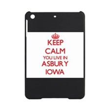 Keep calm you live in Asbury Iowa iPad Mini Case