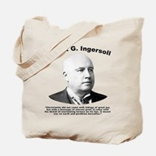 Ingersoll: Christianity Tote Bag
