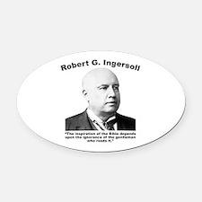 Ingersoll: Bible Oval Car Magnet