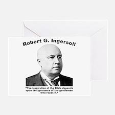 Ingersoll: Bible Greeting Card