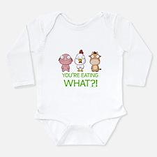 Unique Vegetarian Long Sleeve Infant Bodysuit