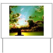 Green Sky Sunset Water Tower Horizon for Yard Sign