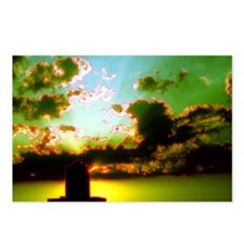 Green Sky Sunset Water To Postcards (Package of 8)