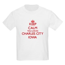 Keep calm you live in Charles City Iowa T-Shirt