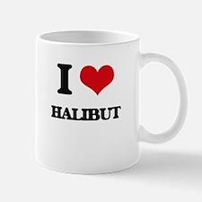 I Love Halibut ( Food ) Mugs