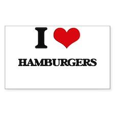 I Love Hamburgers ( Food ) Decal