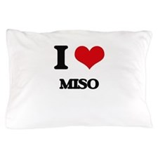 I Love Miso ( Food ) Pillow Case