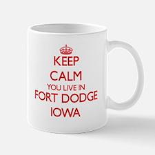 Keep calm you live in Fort Dodge Iowa Mugs