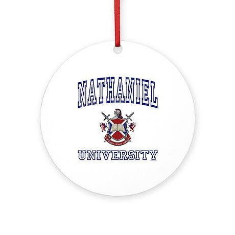 NATHANIEL University Ornament (Round)
