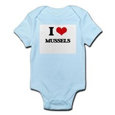I Love Mussels ( Food ) Body Suit