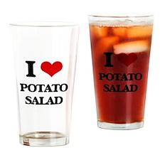 I Love Potato Salad ( Food ) Drinking Glass