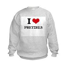 I Love Pretzels ( Food ) Sweatshirt