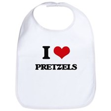 I Love Pretzels ( Food ) Bib