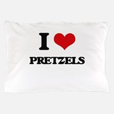 I Love Pretzels ( Food ) Pillow Case