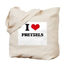 I Love Pretzels ( Food ) Tote Bag