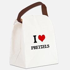 I Love Pretzels ( Food ) Canvas Lunch Bag