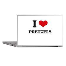 I Love Pretzels ( Food ) Laptop Skins