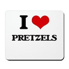 I Love Pretzels ( Food ) Mousepad