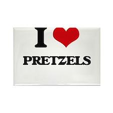 I Love Pretzels ( Food ) Magnets