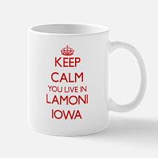 Keep calm you live in Lamoni Iowa Mugs