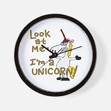 Look at me I'm a Unicorn! Wall Clock