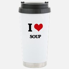 I Love Soup ( Food ) Stainless Steel Travel Mug