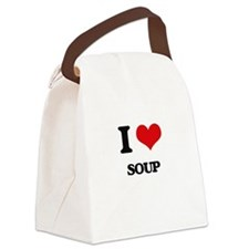 I Love Soup ( Food ) Canvas Lunch Bag