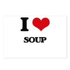 I Love Soup ( Food ) Postcards (Package of 8)