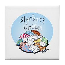 Slackers Unite Tile Coaster
