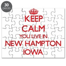 Keep calm you live in New Hampton Iowa Puzzle