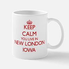 Keep calm you live in New London Iowa Mugs