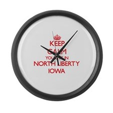 Keep calm you live in North Liber Large Wall Clock