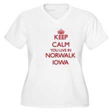 Keep calm you live in Norwalk Io Plus Size T-Shirt