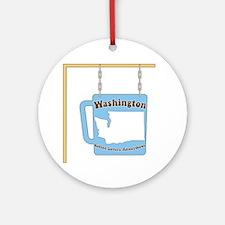 Washington Coffee Ornament (Round)