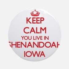 Keep calm you live in Shenandoah Ornament (Round)
