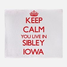 Keep calm you live in Sibley Iowa Throw Blanket