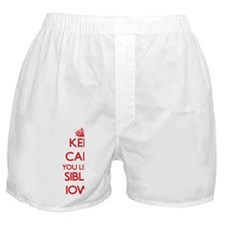 Keep calm you live in Sibley Iowa Boxer Shorts