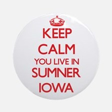 Keep calm you live in Sumner Iowa Ornament (Round)