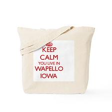 Keep calm you live in Wapello Iowa Tote Bag
