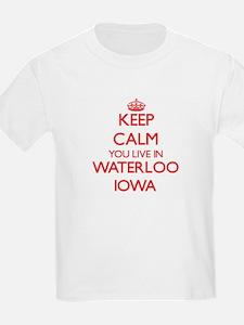 Keep calm you live in Waterloo Iowa T-Shirt